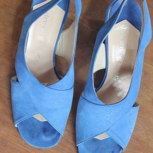 Vintage 60's Blue Suede Shoes